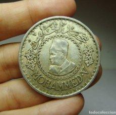 Monedas antiguas de África: 500 FRANCOS. PLATA. MOHAMMED V. MARRUECOS - 1956. Lote 268449724