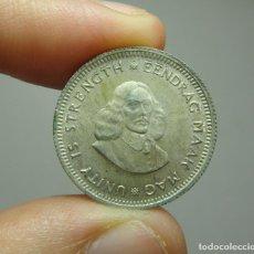 Monedas antiguas de África: 5 CÉNTIMOS. PLATA. SOUTH AFRIKA - 1962. Lote 268606779