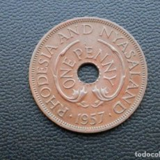 Monedas antiguas de África: RHODESIA MONEDA 1 PENIQUE AÑO 1957. CONSERVACIÓN BC. Lote 268971539