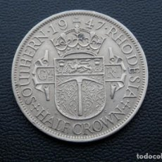 Monedas antiguas de África: RHODESIA MONEDA HALF CROWN AÑO 1947. CONSERVACIÓN BC. Lote 268975039