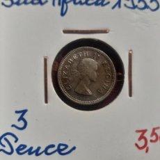 Monedas antiguas de África: SUDÁFRICA. 3 PENCE 1953 PLATA. Lote 268993684