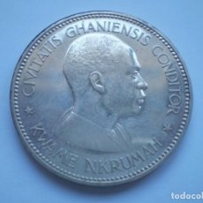 Monedas antiguas de África: 24SCD14 GHANA KWAME NKRUMAH 1958 10 CHELINES DE PLATA PROOF. TIRADA 11000. Lote 268995799