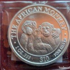 Monete antiche di Africa: SOMALIA 2000. ONZA DE PLATA MONKEYS DE SOMALIA. SIN CIRCULAR. RARA. Lote 269153453