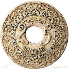 Moedas antigas de África: ⚜️ B2243. 25 CENTIMES ND [1921]. CECA PARÍS. MARRUECOS. Lote 269235248