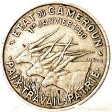 Moedas antigas de África: ⚜️ B2231. MUY INTERESANTE CONMEMORATIVA. 50 FRANCS 1960. CAMERÚN. Lote 269236033