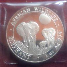 Monete antiche di Africa: SOMALIA * 100 SHILLINGS 2014 * 1 ONZA DE PLATA PURA. Lote 269298013