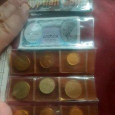 Moedas antigas de África: EGIPTO. 9 MONEDAS + BILLETE EN BLISTER SOUVENIR. Lote 270110758