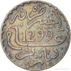 Monedas antiguas de África: [#866791] MONEDA, MARRUECOS, MOULAY AL-HASAN I, DIRHAM, AH 1299/1881, PARIS, MBC+, PLATA. Lote 271568678