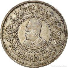 Monedas antiguas de África: [#866781] MONEDA, MARRUECOS, MOHAMMED V, 500 FRANCS, 1956, PARIS, MBC+, PLATA, KM:54. Lote 271569633