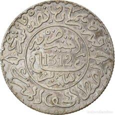 Monedas antiguas de África: [#866789] MONEDA, MARRUECOS, MOULAY AL-HASAN I, 2-1/2 DIRHAMS, AH 1312/1894, PARIS, MBC. Lote 271570643