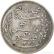 Monedas antiguas de África: [#866829] MONEDA, TÚNEZ, MUHAMMAD AL-NASIR BEY, 50 CENTIMES, 1916, PARIS, MBC, PLATA. Lote 271572743