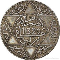 Monedas antiguas de África: [#866788] MONEDA, MARRUECOS, 'ABD AL-AZIZ, 1/2 RIAL, 5 DIRHAMS, AH 1320/1902, BERLIN, MBC. Lote 271574613
