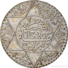 Monedas antiguas de África: [#866787] MONEDA, MARRUECOS, 'ABD AL-AZIZ, 1/2 RIAL, 5 DIRHAMS, AH 1320/1902, BERLIN, MBC. Lote 271575913