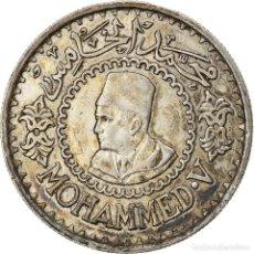 Monedas antiguas de África: [#866780] MONEDA, MARRUECOS, MOHAMMED V, 500 FRANCS, 1956, PARIS, MBC+, PLATA, KM:54. Lote 271576788