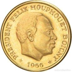 Monedas antiguas de África: [#866722] MONEDA, COSTA DE MARFIL, FÉLIX HOUPHOUËT-BOIGNY, 25 FRANCS, 1966, EBC, ORO. Lote 271577823