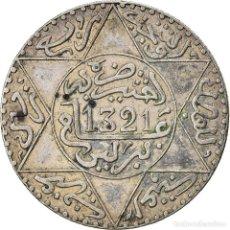 Monedas antiguas de África: [#866790] MONEDA, MARRUECOS, 'ABD AL-AZIZ, 1/4 RIAL, 2-1/2 DIRHAMS, AH 1321/1903, BERLIN. Lote 271584328