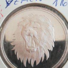 Monedas antiguas de África: MONEDA 2 RIAL YEMEN 1969 LEÓN PLATA. Lote 272259008
