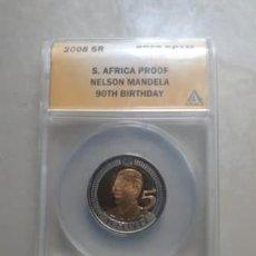 Monedas antiguas de África: SOUTH AFRICAN BIRTHDAY MANDELA COIN R5 PF69. Lote 274223483