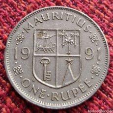 Monedas antiguas de África: ISLA MAURICIO 1 RUPIA 1991. Lote 274881023