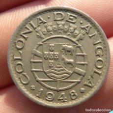 Monedas antiguas de África: 50 CENTAVOS 1948 , COLONIA DE ANGOLA , REPUBLICA PORTUGUESA. Lote 275153123
