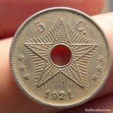 Monedas antiguas de África: 5 CENTIMOS CONGO BELGA 1921. Lote 275166958