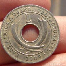 Monedas antiguas de África: 1 CENT 1909 , EAST AFRICA , UGANDA , PROTECTORADOS. Lote 275167153