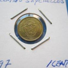 Monedas antiguas de África: MONEDA DE SEYCHELLES DE 1 CENT DE 1997 SC- RARA. Lote 276083183