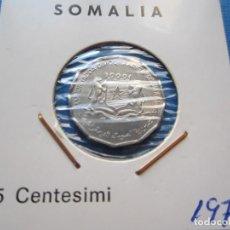 Monedas antiguas de África: MONEDA DE SOMALIA DE 1 CÉNTESIMI DE 1976 SC- RARA. Lote 276083633