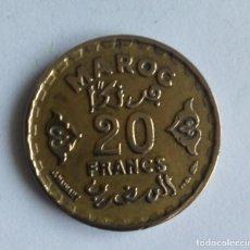 Monedas antiguas de África: MARRUECOS 20 FRANCOS 1952. Lote 276117373