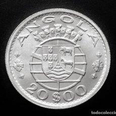 Monedas antiguas de África: ANGOLA 20 ESCUDOS 1955. PLATA SIN CIRCULAR. Lote 276586088