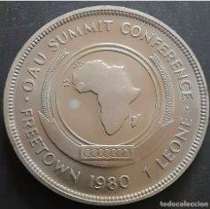 Monedas antiguas de África: SIERRA LEONE 1 LEONE 1980 CROWN PROOF CONMEMORATIVA. Lote 277721383