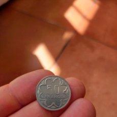 Monedas antiguas de África: MONEDA DE 50 CINCUENTA FRANCOS ESTADOS AFRICANOS CENTRAL CENTRALES 1977 MUY BUENA CONSERVACION. Lote 278408493