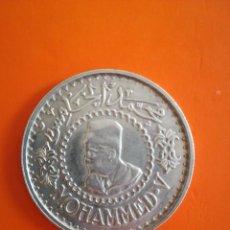 Monedas antiguas de África: MONEDA 500 FRANCS MARRUECOS 1956 PLATA MOHAMED V. Lote 278410238