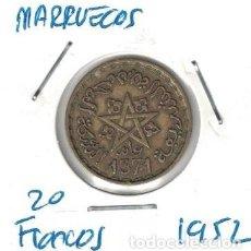 Monedas antiguas de África: MONEDAS - MARRUECOS - 20 FRANCOS 1952. Lote 278417373