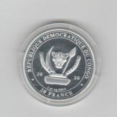 Monedas antiguas de África: REPUBLICA DEMOCRATICA DEL CONGO- 1 ONZA-20 FRANCOS-2020-PROF-ENCAPSULADA. Lote 278476818