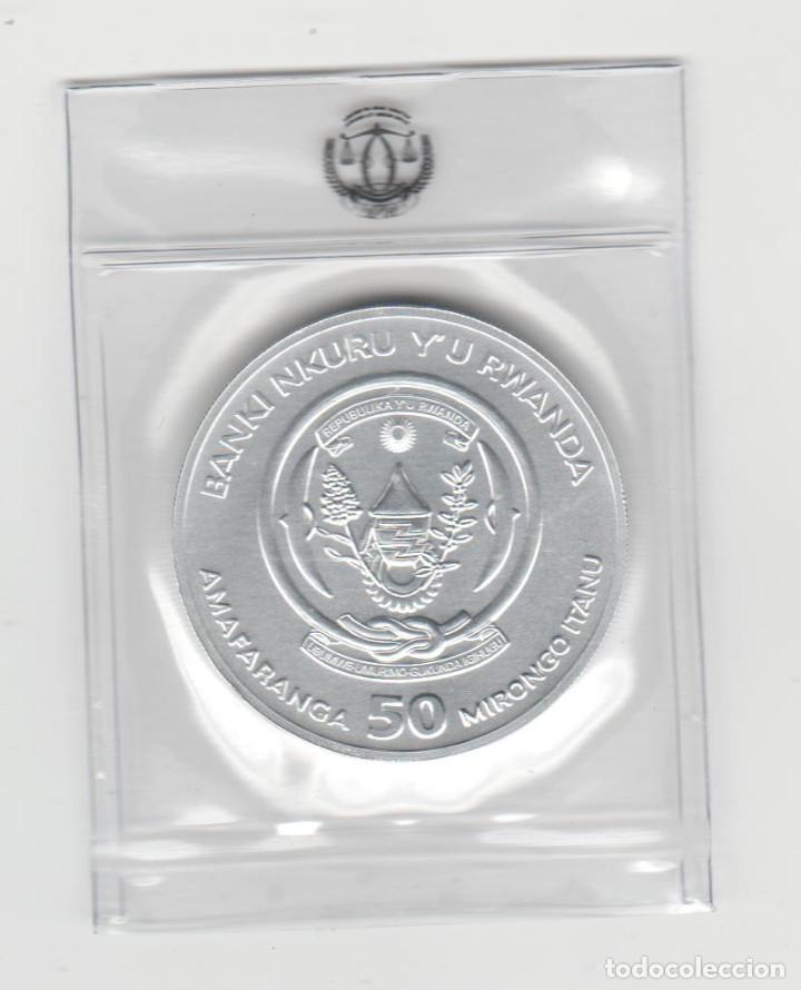 RUANDA- 50 AMAFARANGA- 2021- ONZA-PROF-ENCAPSULADA (Numismática - Extranjeras - África)