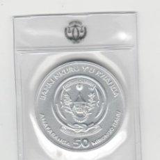 Monedas antiguas de África: RUANDA- 50 AMAFARANGA- 2021- ONZA-PROF-ENCAPSULADA. Lote 278479528