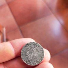 Monedas antiguas de África: MONEDA DE 1/4 CUARTO RIAL 1320 1902 MARRUECOS MUY BUENA CONSERVACION PLATA 2 1/2 DIRHAM CECA LONDRES. Lote 278559353