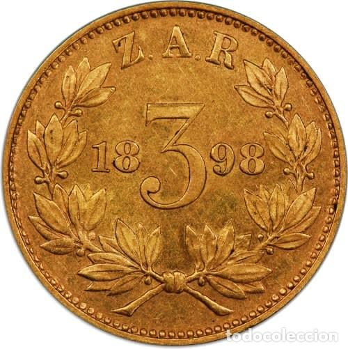 ZAR GOLD 3D TICKEY SAMMY MARKS 1898 PROOF COIN (PCGS) (Numismática - Extranjeras - África)