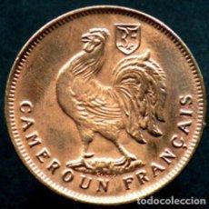 Monedas antiguas de África: CAMERUN - 1 FRANCO - 1943 - BRONCE - NO CIRCULADA. Lote 285449398