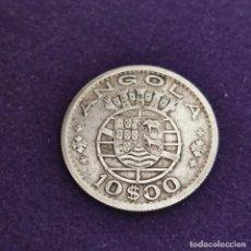 Monedas antiguas de África: MONEDA DE ANGOLA. 1955. 10 ESCUDOS. PLATA.. Lote 287314803