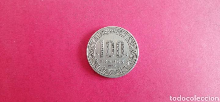 Monedas antiguas de África: 100 francos África Central 1998 - Foto 2 - 287676988