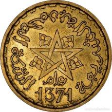 Monedas antiguas de África: [#898169] MONEDA, MARRUECOS, MOHAMMED V, 20 FRANCS, 1951/AH1371, PARIS, MBC+, ALUMINIO -. Lote 287881503
