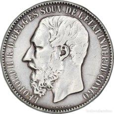 Monedas antiguas de África: [#908564] MONEDA, ESTADO LIBRE DEL CONGO, LEOPOLD II, 5 FRANCS, 1894, BRUSSELS, MBC+. Lote 287881778