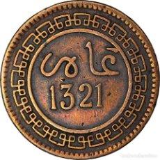 Monedas antiguas de África: [#898128] MONEDA, MARRUECOS, 'ABD AL-AZIZ, 5 MAZUNAS, 1903/AH1321, BIRMINGHAM, BC+. Lote 287882773