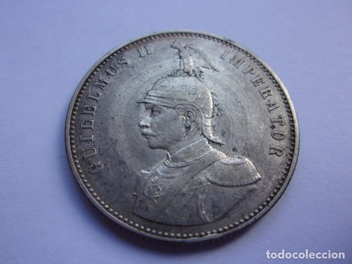 2SCK16 AFRICA ORIENTAL ALEMANA 1 RUPIA DE PLATA 1905 J (Numismática - Extranjeras - África)