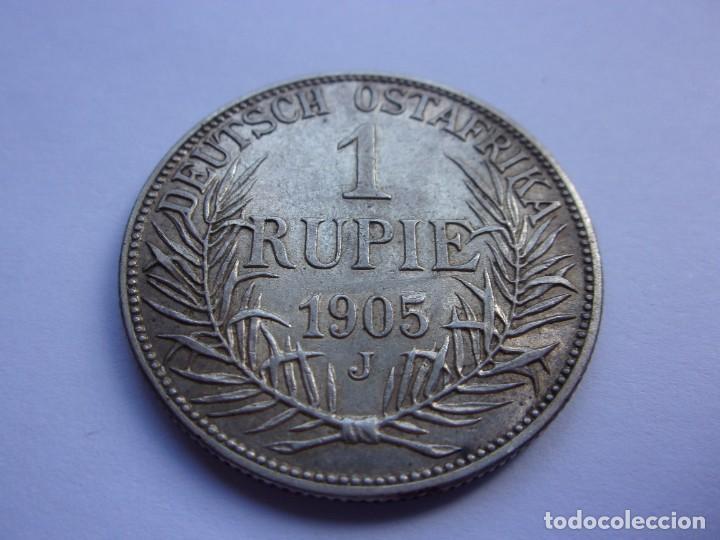 Monedas antiguas de África: 2SCK16 Africa Oriental Alemana 1 rupia de plata 1905 J - Foto 4 - 287929353