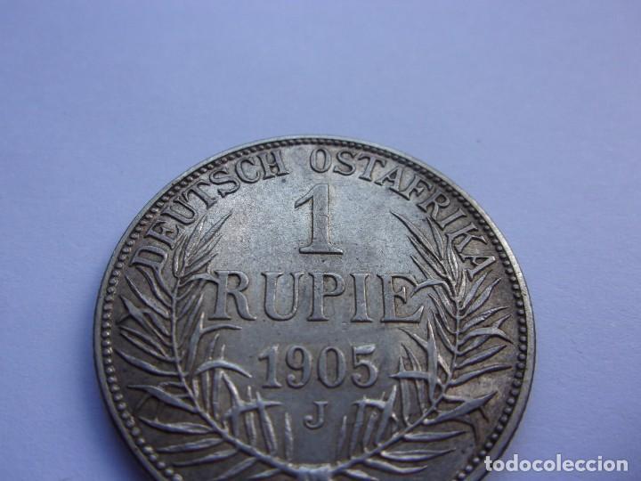 Monedas antiguas de África: 2SCK16 Africa Oriental Alemana 1 rupia de plata 1905 J - Foto 5 - 287929353