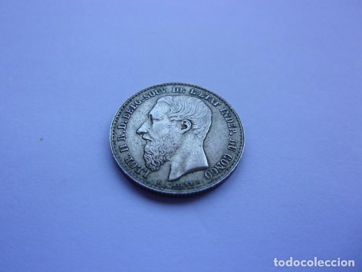 7SCK16 CONGO LEOPOLDO II 50 CENTIMES PLATA 1896 (Numismática - Extranjeras - África)