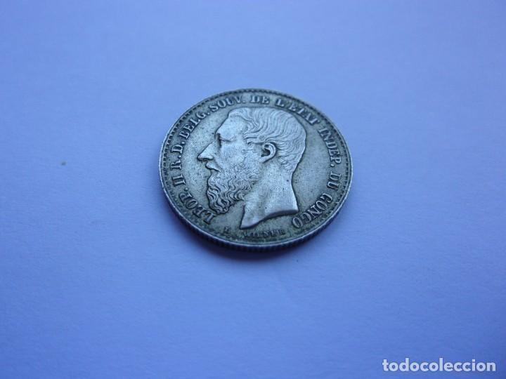 Monedas antiguas de África: 7SCK16 Congo Leopoldo II 50 centimes plata 1896 - Foto 3 - 287935623